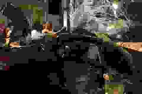Xe con lao đầu vào xe khách, tài xế tử vong