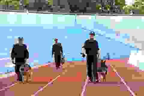 Diễn tập siết chặt an ninh tránh sự cố trên sân Hà Tĩnh trước trận đấu mới