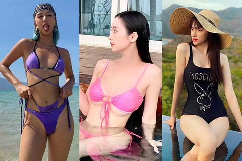 Jun Vũ, Hương Giang, Quỳnh Anh Shyn diện bikini khoe dáng cực kỳ gợi cảm