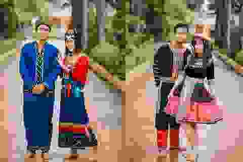 Học sinh cấp 3 tái hiện trang phục các dân tộc Việt Nam qua ảnh kỷ yếu