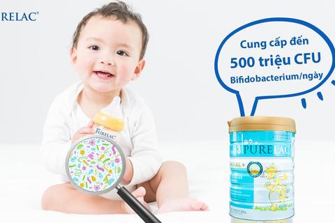 Sữa PureLac bổ sung lợi khuẩn Bifidobacterium cho trẻ hệ tiêu hóa khỏe mạnh