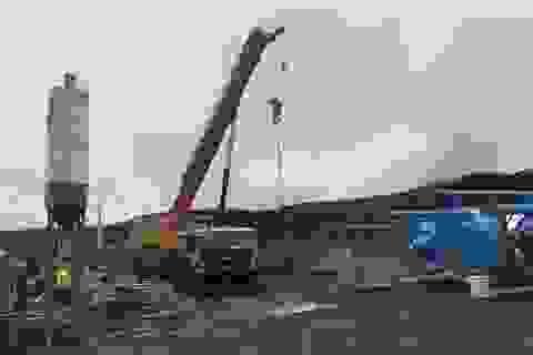 Xây dựng trạm trộn bê tông trái phép trong cụm công nghiệp