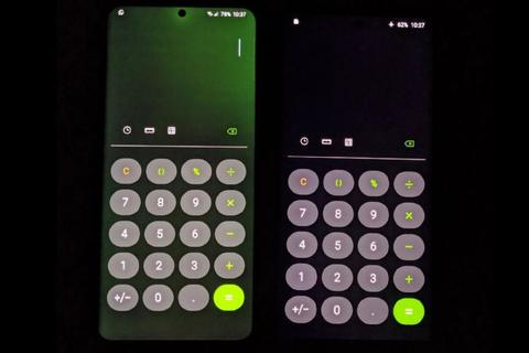 Màn hình điện thoại Samsung cũng bị lỗi ám xanh giống iPhone