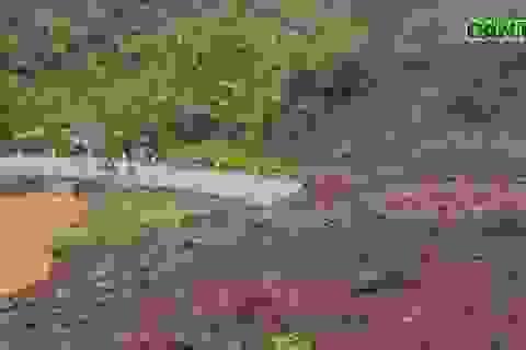 84.000 m3 đất đá vùi lấp tuyến đường ở Lai Châu