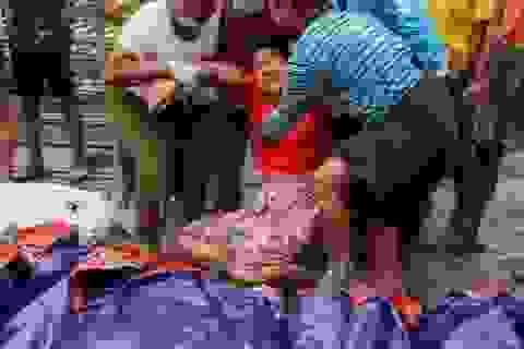 """Thi thể nằm la liệt sau khi """"sóng thần"""" bùn ập xuống mỏ ngọc Myanmar"""