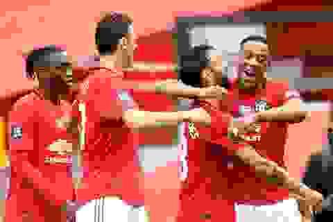 Fernandes chơi hay nhất trong trận đại thắng của Man Utd