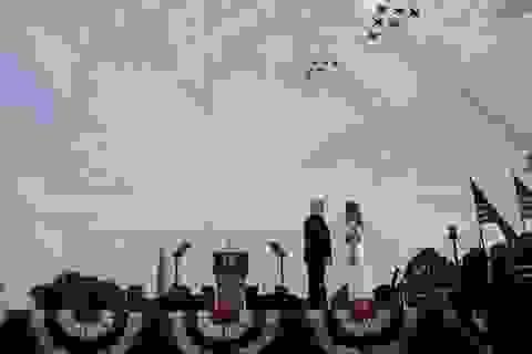 Dàn máy bay quân sự phô diễn sức mạnh mừng quốc khánh Mỹ
