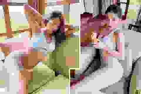 Kỳ Duyên, Minh Triệu nóng bỏng với nội y cặp