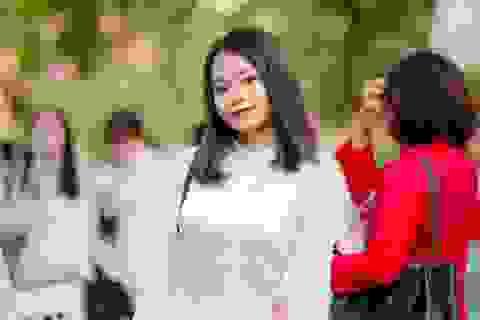 Vẻ đẹp tinh khôi của nữ sinh trường Chu Văn An trong ngày bế giảng