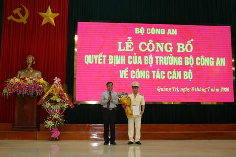 Bộ Công an bổ nhiệm Phó Giám đốc Công an Quảng Trị