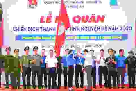 Tỉnh đoàn Nghệ An ra quân tình nguyện ở biên giới Việt - Lào