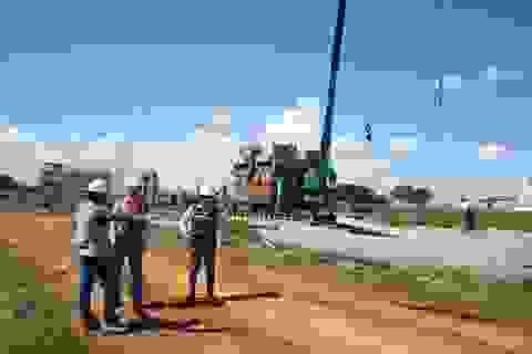 Đột nhập công trình bất động sản vừa được cấp phép xây dựng trên địa bàn quận 12
