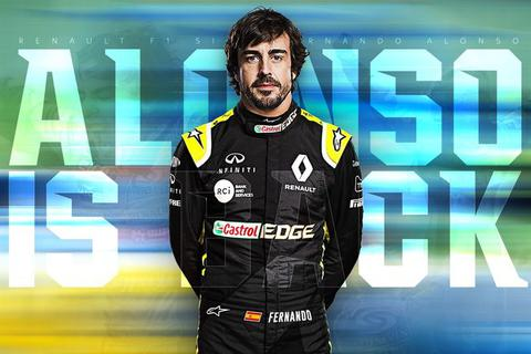 Cựu vương Fernando Alonso sẽ trở lại đường đua F1