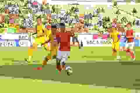SL Nghệ An bất phân thắng bại với Hồng Lĩnh Hà Tĩnh trên sân Vinh