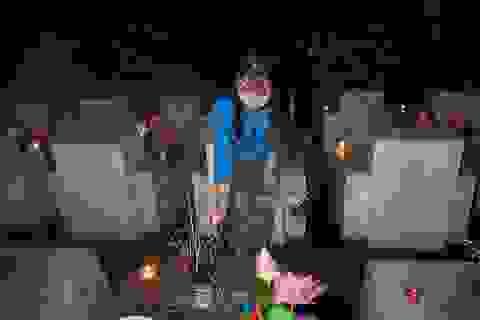 Nghĩa trang Liệt sĩ quốc gia Vị Xuyên rực sáng trong đêm thiêng liêng