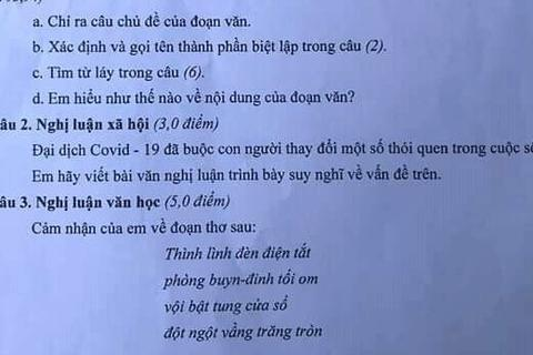 Đề Văn vào lớp 10 Nghệ An nói về thói quen con người trong dịch Covid-19