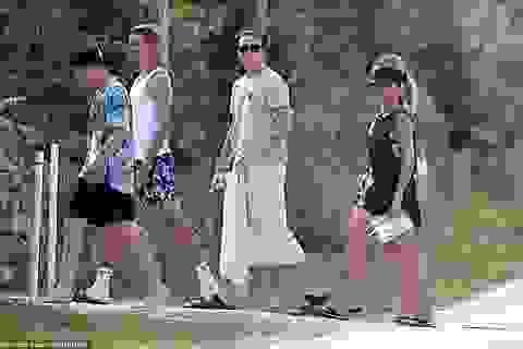 Gia đình Beckham đi nghỉ mát ở Italia