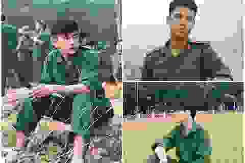 Những hot boy mặc đồ quân sự với gương mặt điển trai gây chú ý