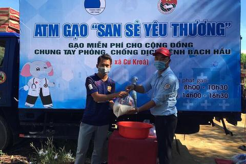 """""""ATM gạo"""" đến với vùng bị cách ly do bệnh bạch hầu tại Đắk Lắk"""