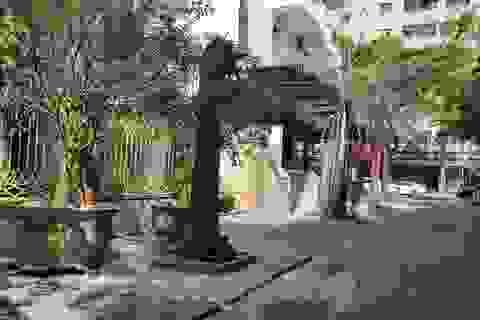 """Cận cảnh biệt thự đô thị mẫu Hà Nội """"đua nhau"""" thay cây xanh, lát vỉa hè sai quy hoạch"""
