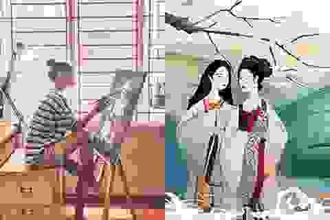 Bộ tranh minh họa truyện Kiều của nữ sinh Hà Tĩnh gây sốt