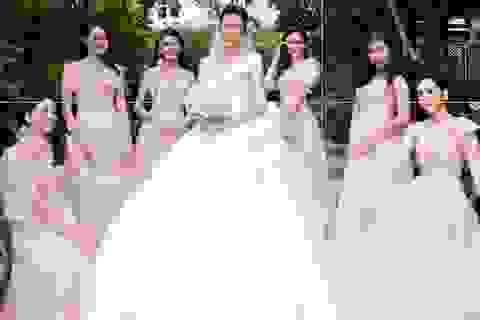 Hoa hậu Khánh Vân và dàn sao làm phù dâu trong đám cưới Á hậu Thuý Vân