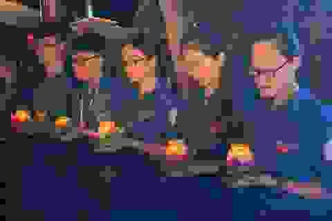 Thanh niên Thủ đô thắp nến tri ân các anh hùng liệt sĩ