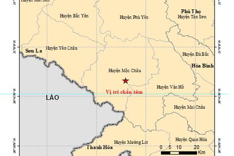 Xảy ra 3 trận động đất ở Sơn La