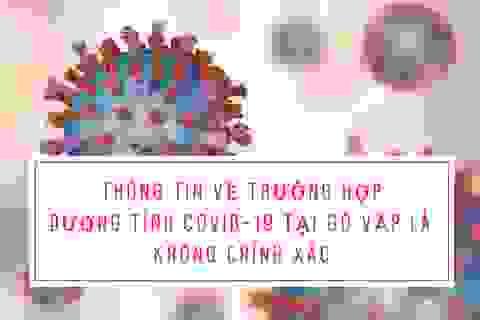 TP HCM: Bác thông tin ca bệnh nhiễm Covid-19 tại quận Gò Vấp