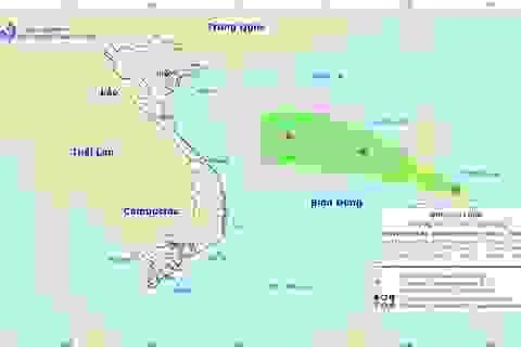 Xuất hiện một vùng áp thấp gần Biển Đông