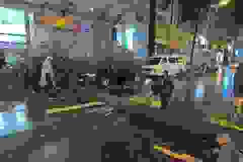 Cây cổ thụ bật gốc, đổ vào ô tô trong cơn mưa