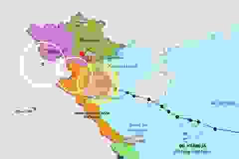 Bão số 2 đã vào vùng biển các tỉnh Thái Bình đến Nghệ An