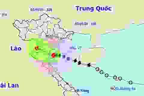 Bão số 2 đã đi vào các tỉnh Ninh Bình đến Nghệ An