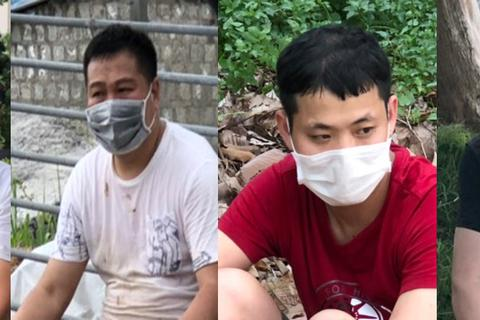 Hơn 1 giờ truy bắt nhóm người Trung Quốc nhập cảnh trái phép