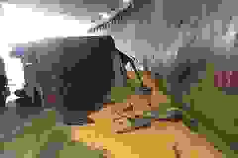 Phong tỏa hầm chui ngã tư Vũng Tàu vì xe container lật