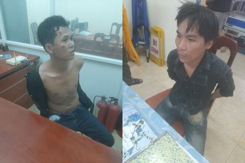 """CSGT đi tuần bắt """"nóng"""" 2 đối tượng đang cạy cửa ô tô trộm cắp"""