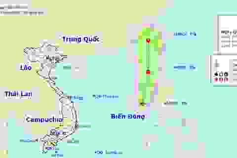 Vùng áp thấp tại Biển Đông đã mạnh lên thành áp thấp nhiệt đới