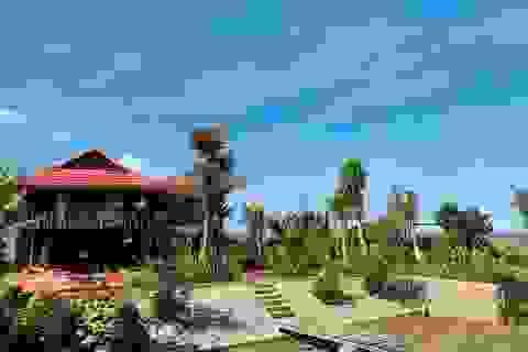 Mua lại nhà sàn cũ, gia đình ở Tây Nguyên làm nhà vườn 3.000m2 tuyệt đẹp