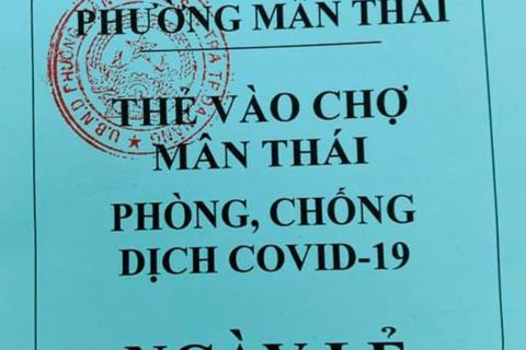 Đà Nẵng phát thẻ hồng, thẻ xanh cho dân đi chợ 3 ngày một lần