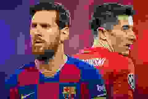 """Messi vs Lewandowski: Cuộc chiến nảy lửa của hai """"nòng pháo"""""""