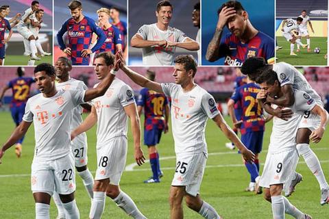 """""""Hủy diệt"""" Barcelona 8-2, Bayern Munich hiên ngang vào bán kết"""