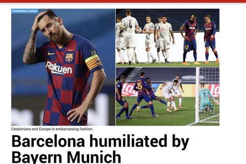 """Báo chí thế giới kinh hoàng, gọi Barcelona là """"nỗi ô nhục"""""""
