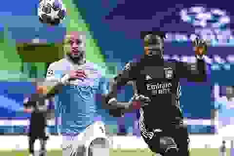 Man City 0-0 Lyon (hiệp 1): De Bruyne đá tiền đạo cánh phải