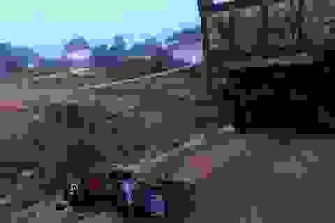 Xe ben vận chuyển đất trái phép tông xe công an, mở đường tẩu thoát
