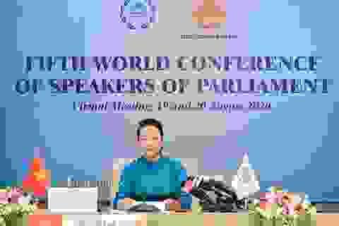 Chủ tịch Quốc hội dự hội nghị thượng đỉnh lãnh đạo nghị viện thế giới