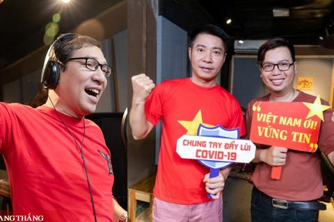 """Công Lý, Quang Thắng, Holy Thắng cùng dàn sao hát """"Việt Nam ơi! Vững tin!"""""""