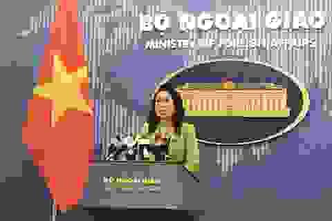 """Bộ Ngoại giao lên tiếng việc tàu Trung Quốc """"quần thảo"""" lô dầu khí Việt Nam"""