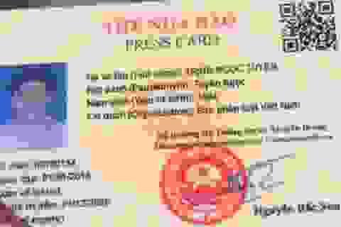 Người mạo danh Cục Báo chí tặng hoa Công an Thanh Hóa dùng thẻ nhà báo giả