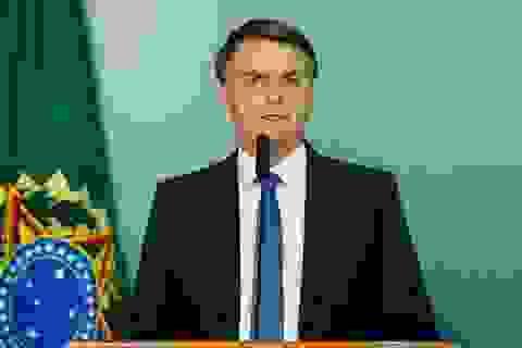 """Tổng thống Brazil """"nổi đóa"""" với phóng viên vì đặt câu hỏi về vợ"""