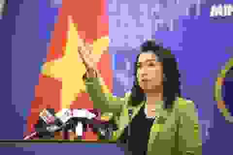 Việt Nam phản đối Trung Quốc tập trận trái phép ở Hoàng Sa